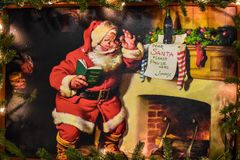 Free Vintage Coca Cola Sign On Christmas Celebration At Seaworld 7. Stock Photography - 162324632