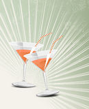 Vintage cocktail glass Stock Image