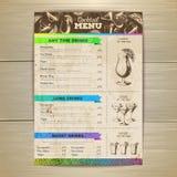 Vintage cocktail menu design. Document template Stock Image