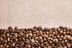 Vintage Coffe Beans Background Royalty Free Stock Image