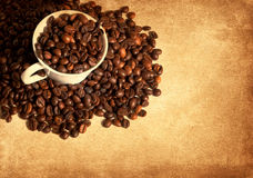 Vintage coffee background Royalty Free Stock Photos