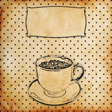 Vintage coffee background. Vintage background with cup of coffee vector illustration