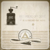 Vintage Coffee Background. EPS10 Compatibility Required Royalty Free Stock Photo