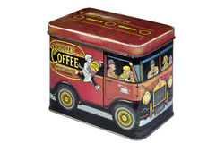 Vintage coffee box Royalty Free Stock Photography