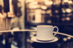 Vintage coffee cup Stock Photo