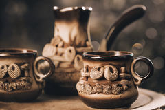 Vintage coffee cups Stock Photography