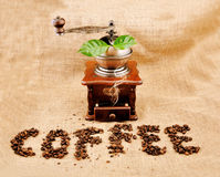 Vintage coffee grinder Royalty Free Stock Image