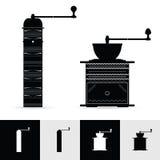 Vintage coffee grinder art illustration Royalty Free Stock Photography