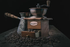 Vintage coffee grinder Stock Photo