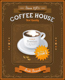 Vintage Coffee House card Royalty Free Stock Images