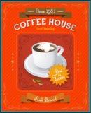 Vintage Coffee House card Stock Photos