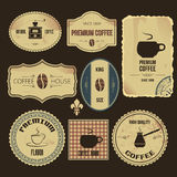 Vintage coffee labels Stock Photography