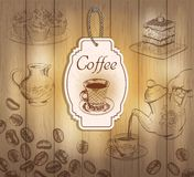 Vintage coffee labels Stock Images