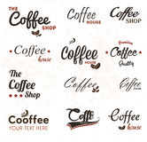 Vintage coffee labels Royalty Free Stock Images