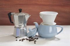 Vintage coffee makers, Stock Photo