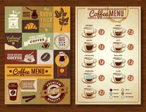 Vintage Coffee Menu 2 banners Board Stock Photos