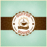 Vintage coffee menu template with grunge effects. Eps10 Royalty Free Stock Photography