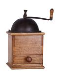 Vintage coffee mill. Isolated on white background Royalty Free Stock Images