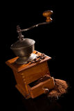 Vintage coffee mill still life. Stock Photography