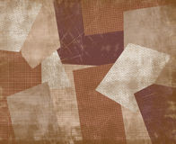 Vintage coffee patchwork. Royalty Free Stock Photos