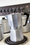 Vintage coffee percolator Royalty Free Stock Photo