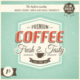 Vintage coffee poster with grunge effects Stock Photography