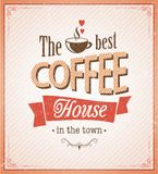 Vintage coffee poster with grunge effects Royalty Free Stock Photos
