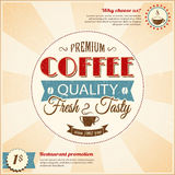 Vintage coffee poster with grunge effects Royalty Free Stock Photo