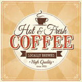 Vintage coffee poster with grunge effects. Eps10 Royalty Free Stock Photos