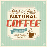 Vintage coffee poster with grunge effects Stock Photo
