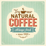 Vintage coffee poster with grunge effects. Eps10 Stock Photo