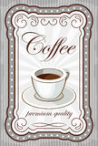 Vintage coffee poster. Stock Image