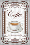 Vintage coffee poster. Picture of a vintage poster with a cup of coffee Royalty Free Stock Photography