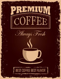Vintage Coffee Poster Stock Image