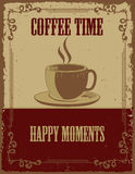 Vintage Coffee Poster stock illustration