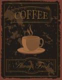 Vintage Coffee Poster Stock Photos
