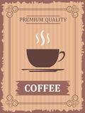 Vintage coffee poster Royalty Free Stock Images