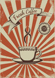 Vintage coffee poster template Royalty Free Stock Photo