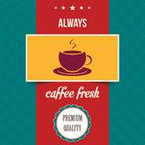 Vintage coffee poster. Vector illustration Royalty Free Stock Photos