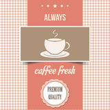 Vintage coffee poster. Vector illustration Stock Image