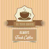 Vintage coffee poster. Vector illustration Royalty Free Stock Photo