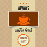 Vintage coffee poster Royalty Free Stock Image