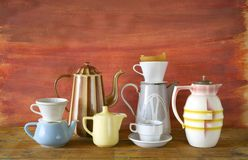 Vintage coffee pots Royalty Free Stock Photography