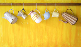 Vintage coffee pots Stock Images