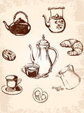 Vintage coffee set stock image