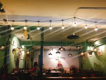 Vintage coffee shop in Hanoi royalty free stock images