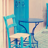 Vintage coffee shop, impressions of Greece Royalty Free Stock Photos