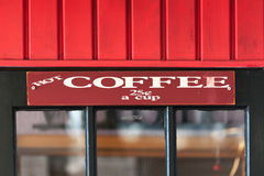 Vintage coffee shop sign Stock Images