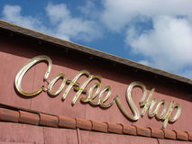Vintage coffee Shop Signage Stock Images