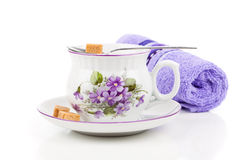 Vintage coffee or tea cups Royalty Free Stock Image